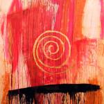 """""""Spirale mistica"""" - mt. 1,60 x mt. 1,80 - tecnica mista su legno"""