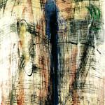 """""""Memory blue"""" - mt. 1,60 x mt. 1,80 - tecnica mista su legno"""