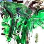 """""""Gli alberi mi nascono dentro..."""" - mt. 1,50 x mt. 1,50 - tecnica mista su pvclight"""