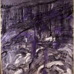 """""""Central Park at 3'50 a.m. NY"""" - mt. 1,70 x mt. 1,70 - tecnica mista su carta impannellata"""