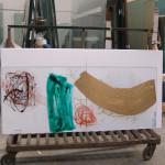 24 - in vetreria, pannello inciso e dipinto a tecnica mista