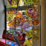 8 - Humor vitreo - vetro di sicurezza inciso e dipinto - mt. 1,00 x mt. 2,00