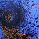 """Big Blue"" - mt. 1,60x2,00 - tecnica mista su pvclight"